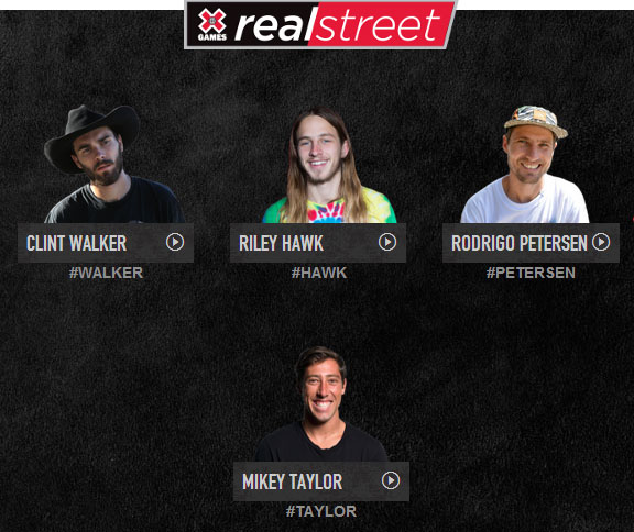 Vote Clint Walker in X Games Real Street