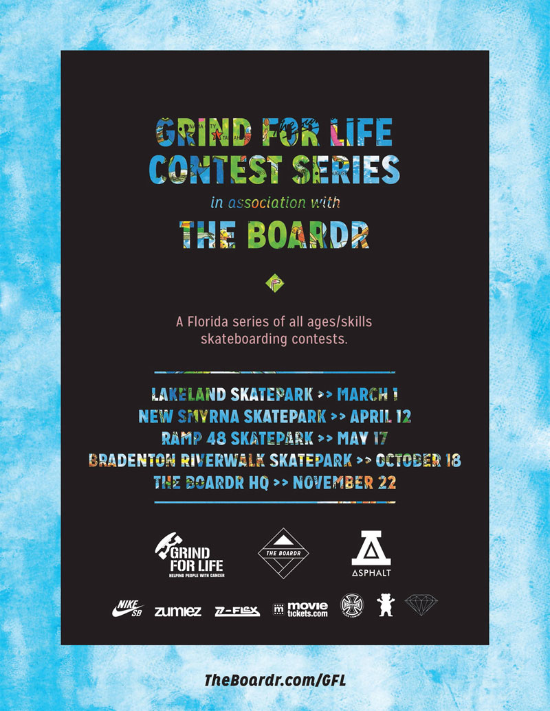 Grind for Life Florida Skateboarding Contest Serie