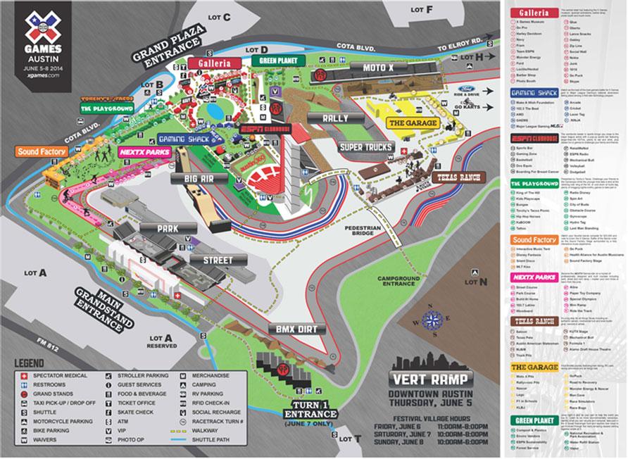 X Games 2014 Austin Site Diagram