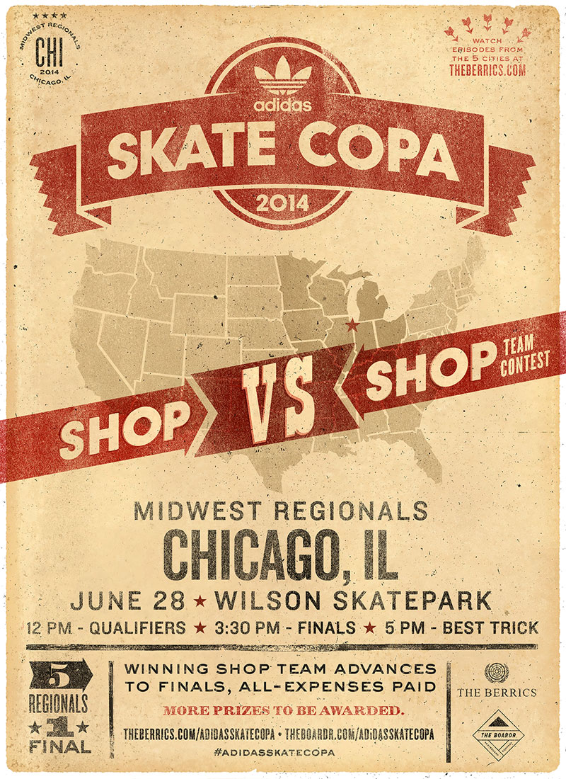 Chicago adidas Skate Copa Stop