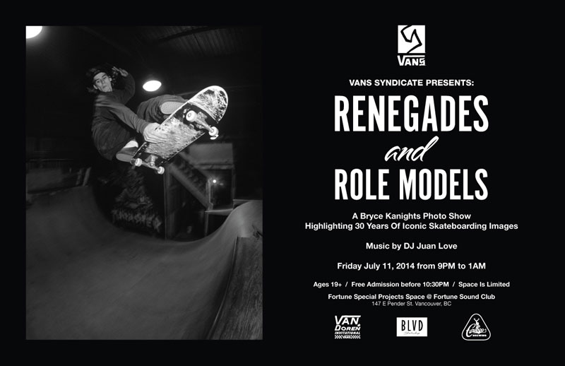 Renegades and Role Models Art Show Vancouver