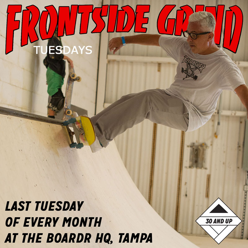 Frontside Grind Tuesdays at The Boardr Mini Ramp