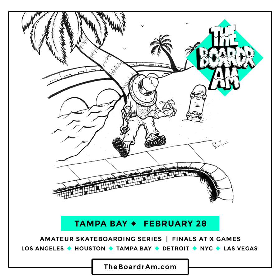 The Boardr Amateur Skateboarding Series in Florida and Tampa