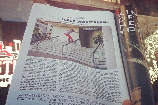 Jorge Angel aka Porpe in The Skateboard Mag