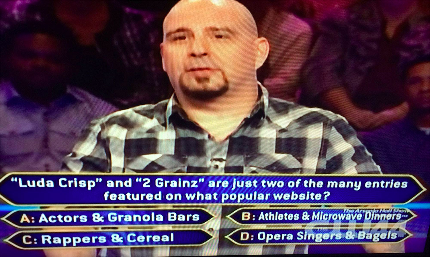 Rappers and Cereal on Who Wants to be Millionaire