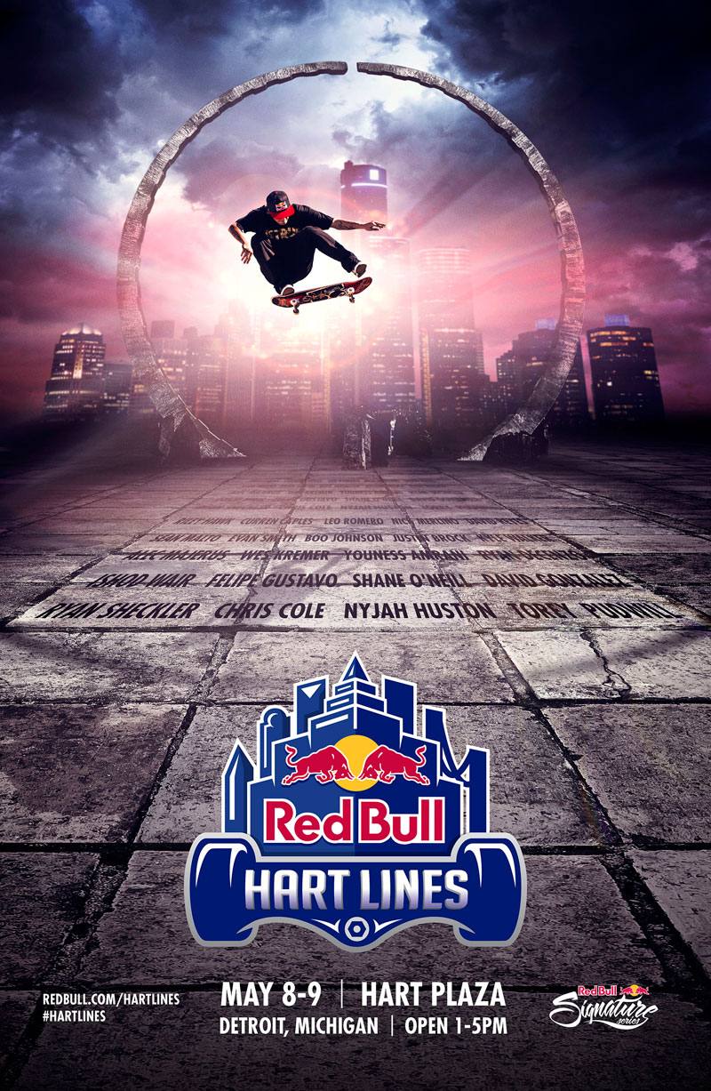 Red Bull Hart Lines Detroit