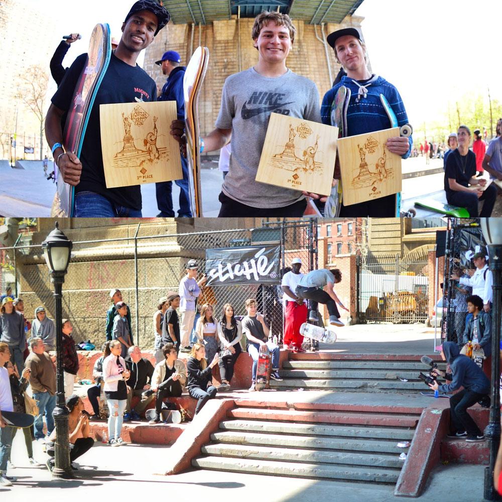 Yoshi Tanenbaum Amateur Skateboarding Contest Win