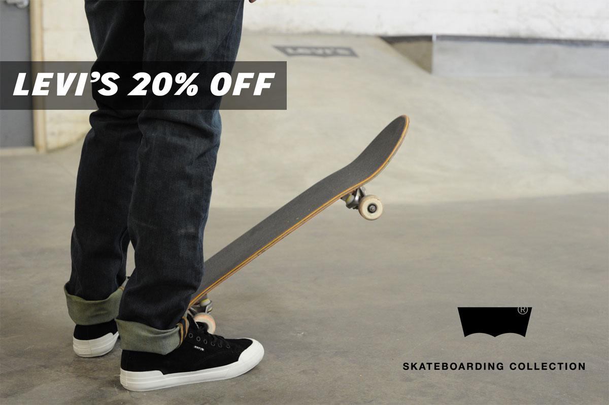 Levi's Skateboarding Apparel in Stock on Sale