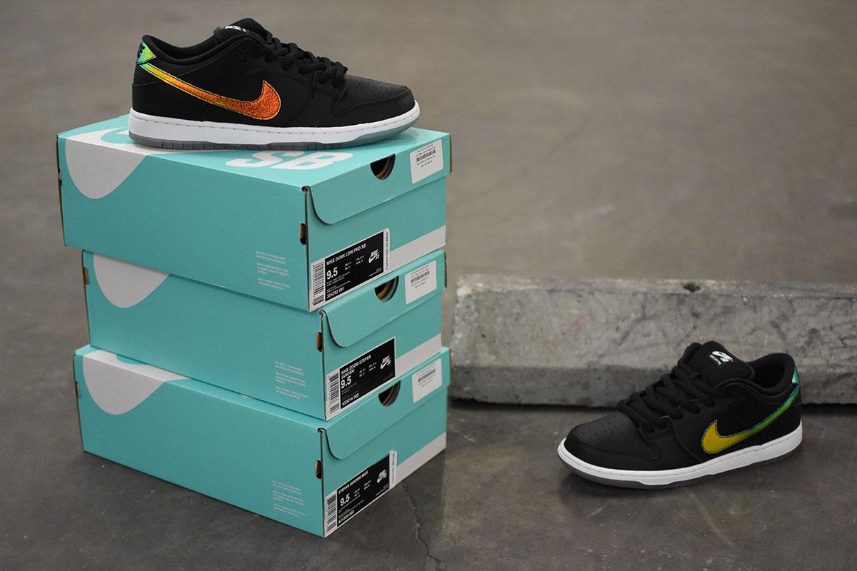 Nike SB Dunk Low Black, Multi-Colored, White