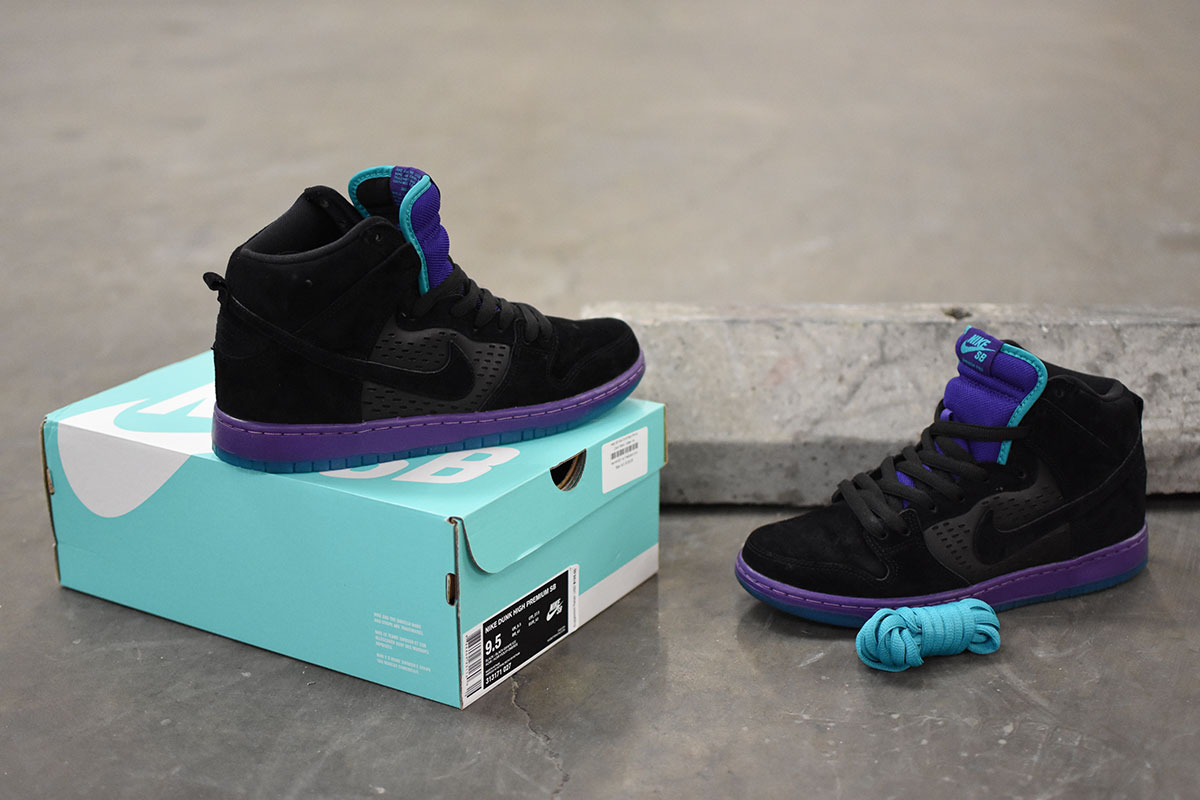 Nike SB Dunk High Black, Grape, Ice