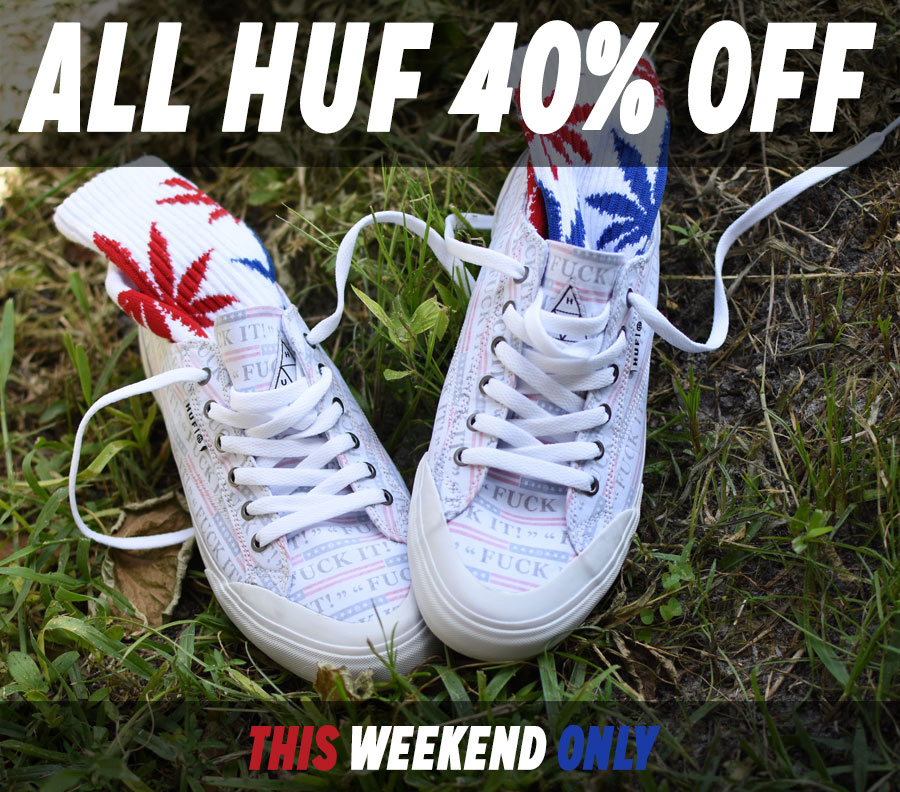 HUF Shoes and Apparel in Stock Now