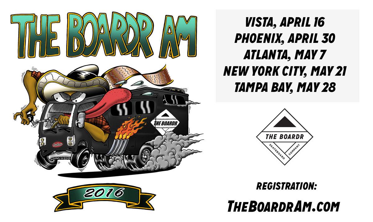 The Boardr Am International Top Amateur Skateboarding Competition