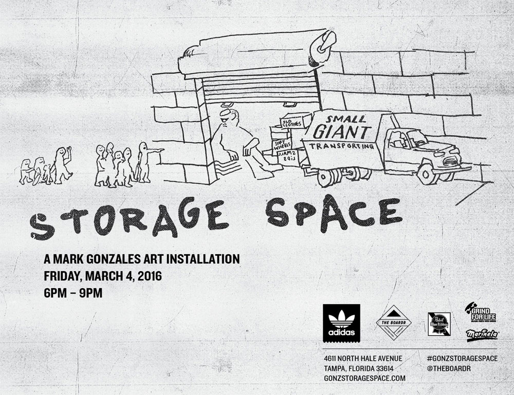 Mark Gonzales Art Show Storage Space Tampa