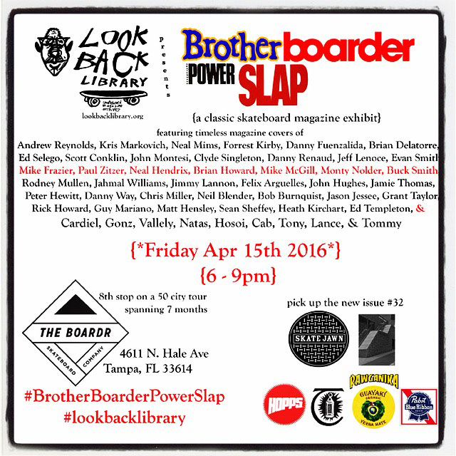 Lookback Library Art Show at The Boardr