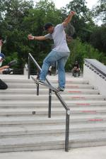 Garrett Young Frontside Bluntslide at Skate Copa Austin. Garrett Young Photo
