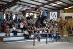 Kickflip Back Lip at The Boardr Am at Houston. Henry Gartland Photo