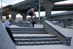 Frontside 360 at adidas Skate Copa Louisville. Tanner VanVark Photo