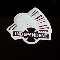 Independent Indy Bar Cross Sticker in stock.