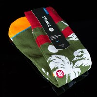$14.00 Stance Palmer Socks, Color: Olive