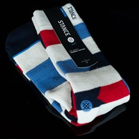 Stance Banner Socks, Color: Khaki in stock.