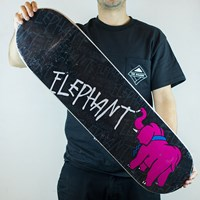 Elephant Chalkboard III Deck, Color: Black in stock.