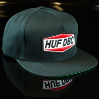 Huf Fuel Snapback Hat, Color: Black in stock.