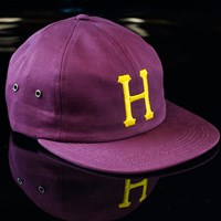 Huf Classic H 6 Panel Hat, Color: Wine in stock.