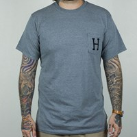 $28.00 HUF Classic H Pocket T Shirt, Color: Grey, Black