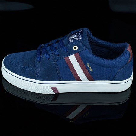 HUF Joey Pepper Pro Shoes, Color: Navy, Wine