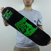 Grind For Life Logo Deck in stock.