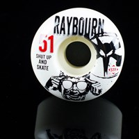 Bones Wheels Ben Raybourn STF Saus Wheels, Color: White in stock.