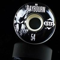 Bones Wheels Ben Raybourn STF Splat Wheels, Color: White in stock.