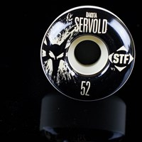 Bones Wheels Dakota Servold STF Splat Wheels, Color: White in stock.