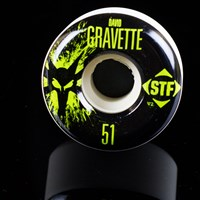 $32.00 Bones Wheels David Gravette STF Splat Wheels, Color: White