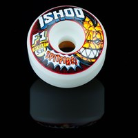 Spitfire Wheels F1 Street Burners Ishod Wair Clobbering Time Wheels, Color: White in stock.