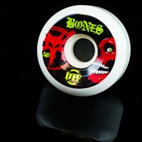 $32.00 Bones Wheels Death DTF Wheels, Color: White