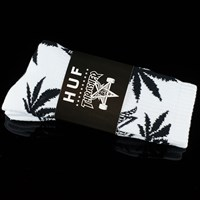 $12.00 HUF Huf X Thrasher Plantlife Socks, Color: White