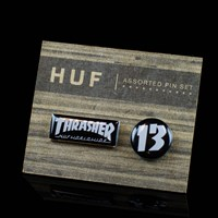 HUF Huf X Thrasher Pin Set in stock.