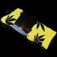 HUF Huf X Wu Tang Plantlife Socks, Color: Yellow in stock.