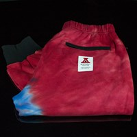 $45.00 Asphalt Yacht Club Tie Dye Fleece Pants, Color: Blue