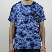 Asphalt Yacht Club AYC Tie Dyed T Shirt, Color: Blue in stock.