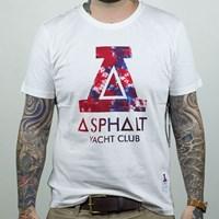 $25.00 Asphalt Yacht Club Tie Dyed Big A T Shirt, Color: White