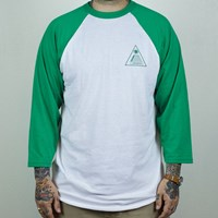 $25.00 Theories Theoramid Raglan T Shirt, Color: Green, White