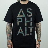 $30.00 Asphalt Yacht Club Camo Knockout T Shirt, Color: Black