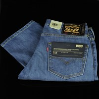 Levi's Skate 513 Jeans, Color: Avenues in stock.