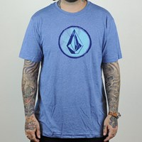 Volcom Circle Stone T Shirt, Color: Airforce Blue in stock.