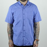 $42.00 Volcom Weirdoh Solid Short Sleeve Woven Shirt, Color: True Blue
