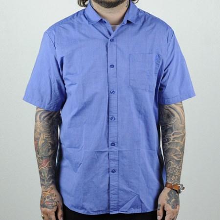 Volcom Weirdoh Solid Short Sleeve Woven Shirt True Blue