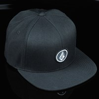 $18.00 Volcom Quarter Snap Back Hat, Color: Black