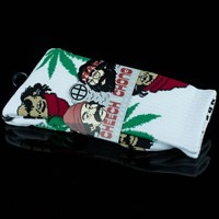 $14.00 HUF Cheech and Chong 420 Socks, Color: White